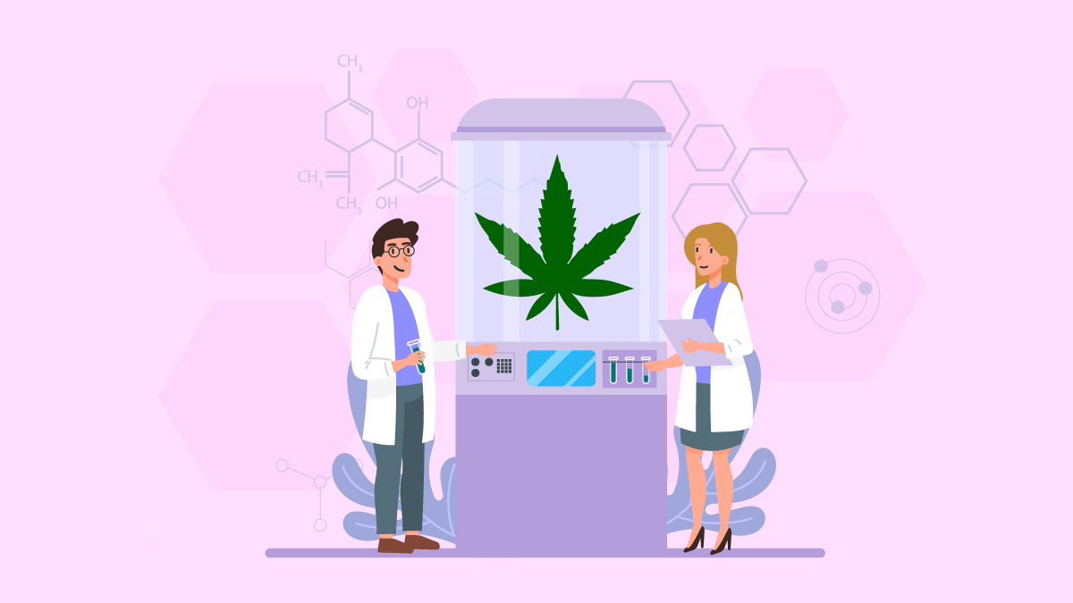 Two Researchers Experimenting on CBD Oil