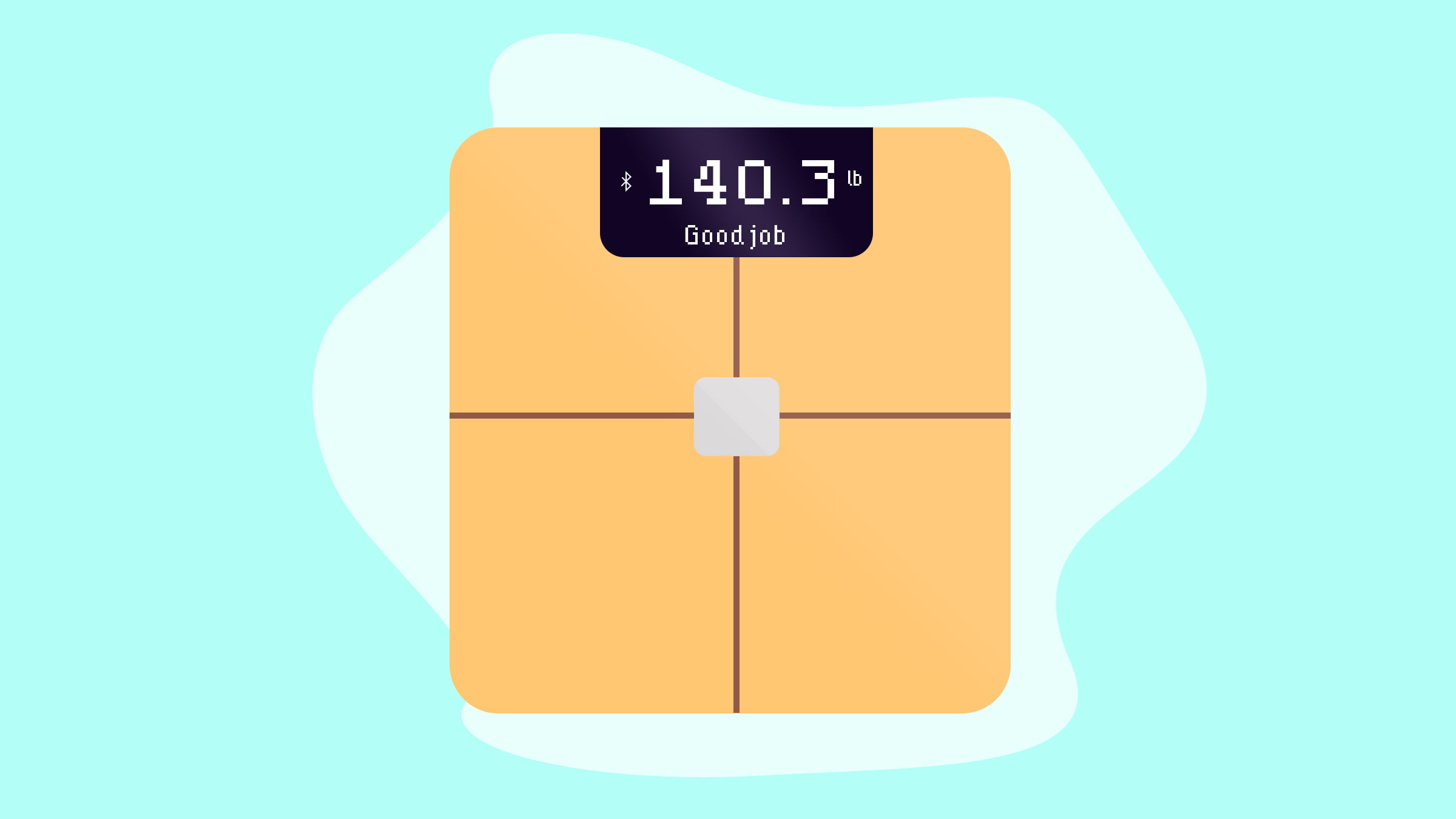 Illustration of a digital scale