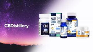 CBDistillery products line up