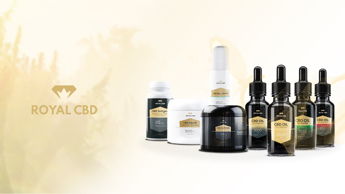 Royal CBD products line up