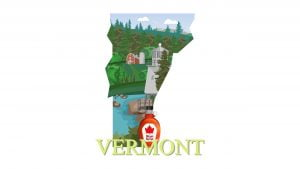 Illustration of Vermont state