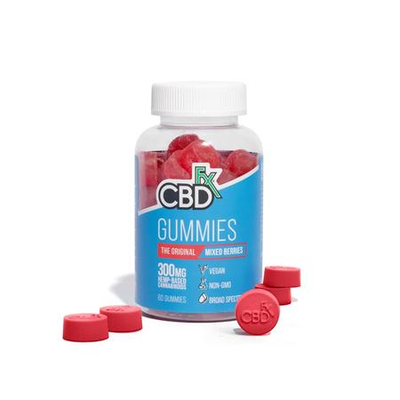 CBDfx gummies in white background