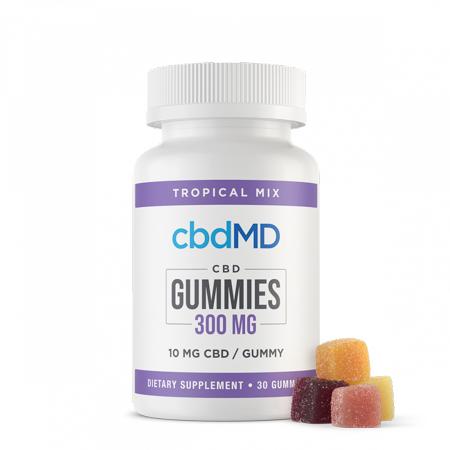 cbdMD gummies in white background