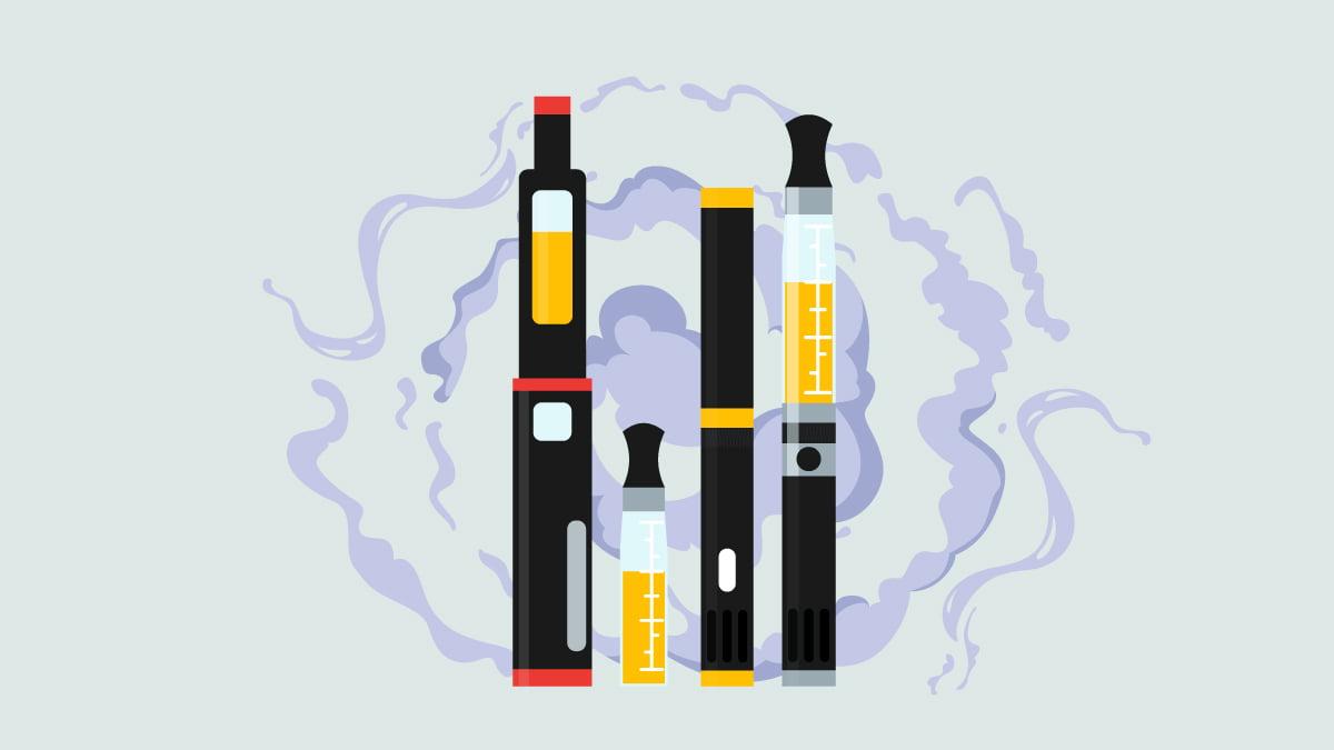 Illustration of Vape Pens with CBD Oil