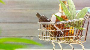 CBD Oil with Hemp Flower Inside the Cart