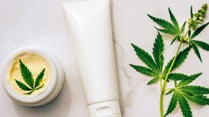 CBD Cream with Oil Hemp Plant for Candida