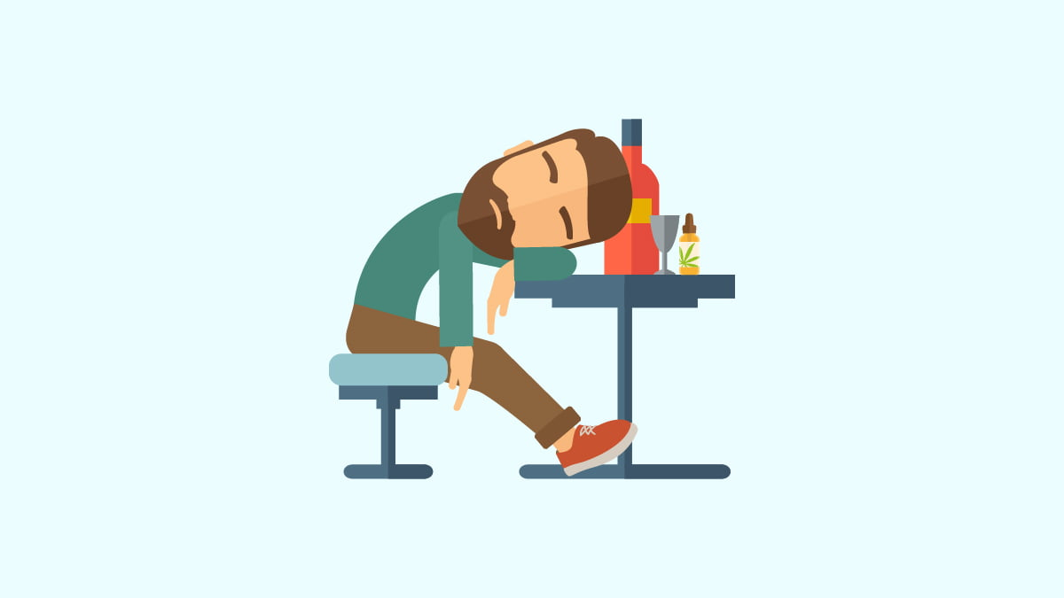 Illustration of a Man with Hangover