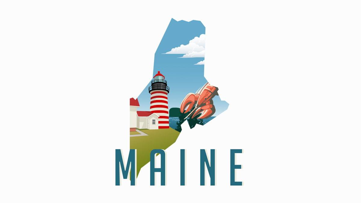 Illustration of Maine State