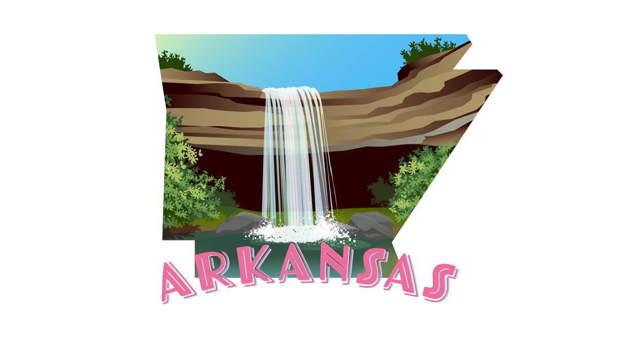 Illustration of Arkansas state map