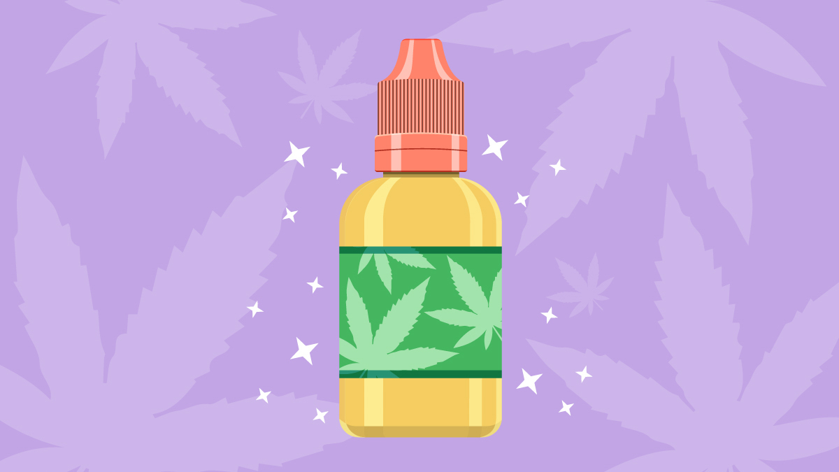 Illustration of CBD vape juice