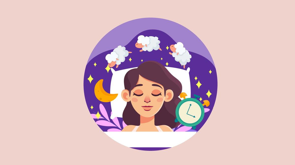 Illustration of a women sleeping