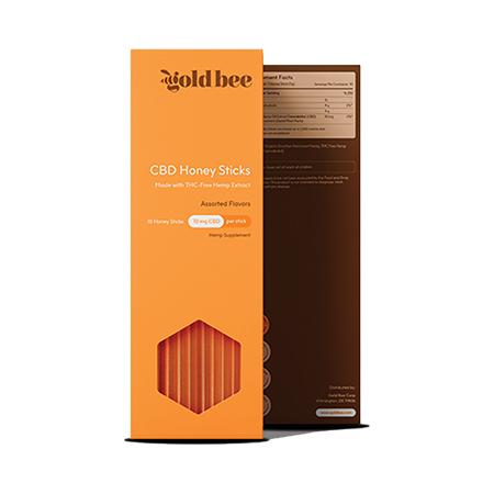 Gold Bee CBD infused honey sticks