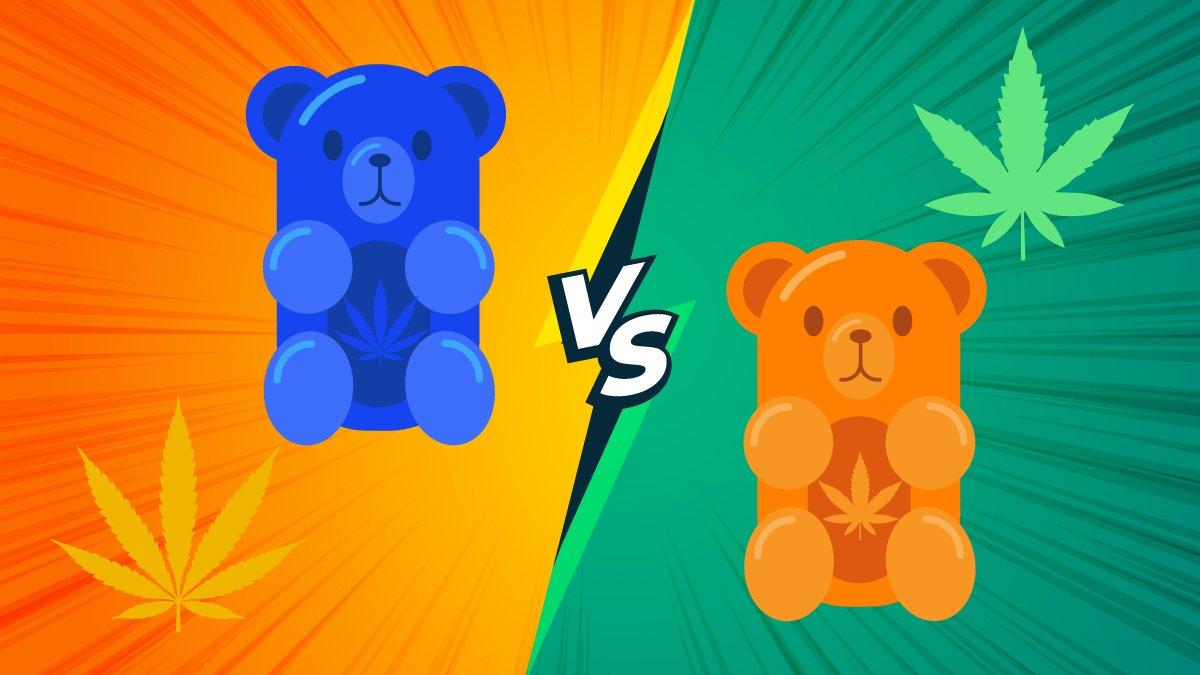 Illustration of 2 kind of gummies