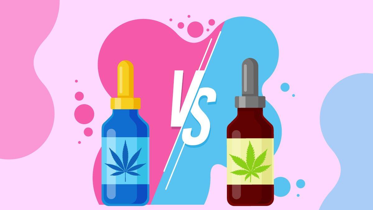 Illustration of CBD Oil Hemp vs Marijuana