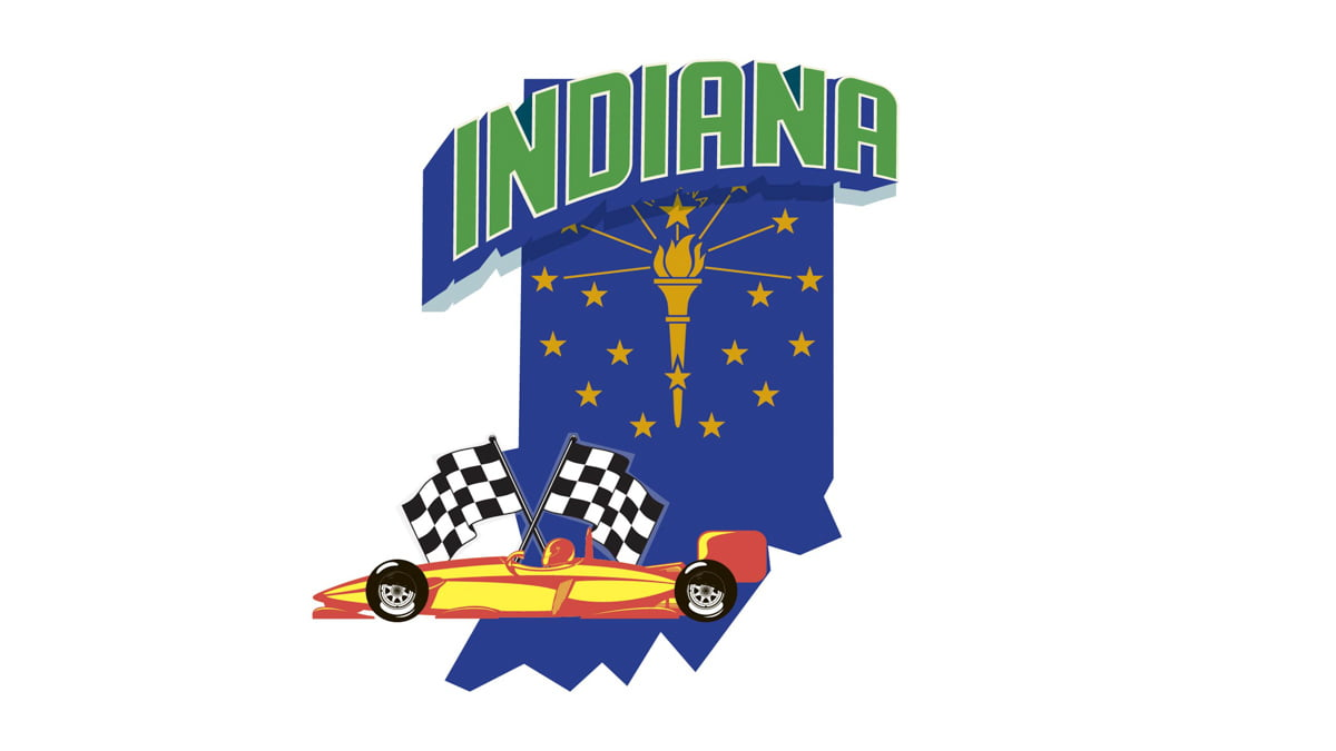 Illustration of Indiana State Map