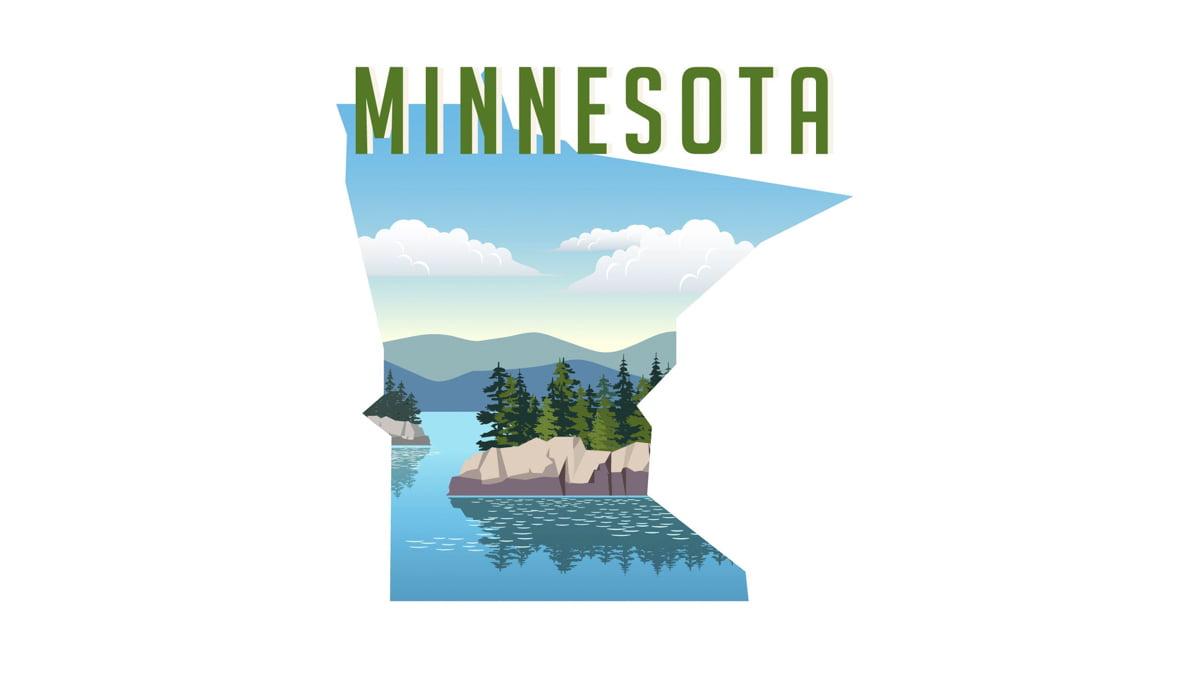 Illustration of Minnesota State Map