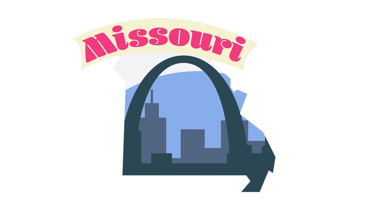 Illustration of Missouri State Map