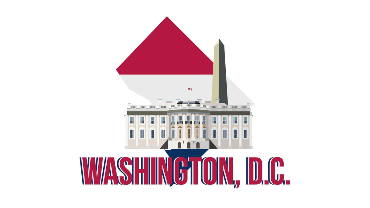 Illustration of White House in DC