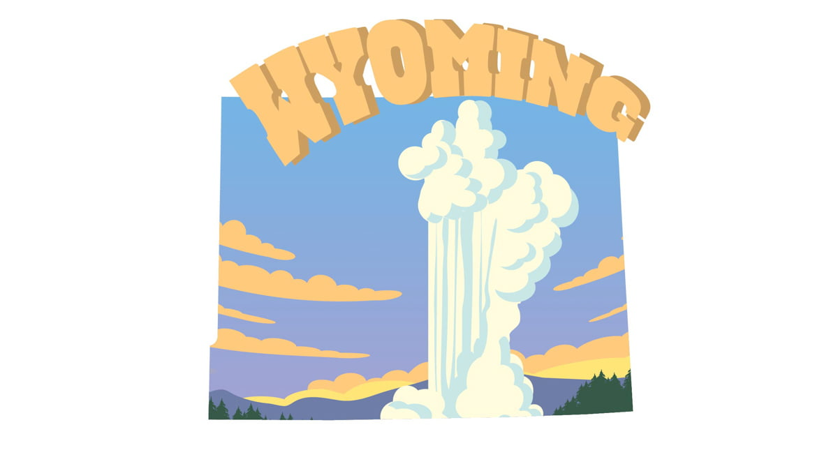 Illustration of Wyoming state map