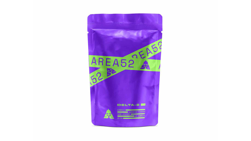 image of Area 52 Delta8 THC Gummies product on a white background