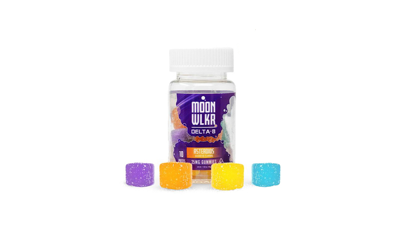 image of Moonwlkr gummies on a white baackground