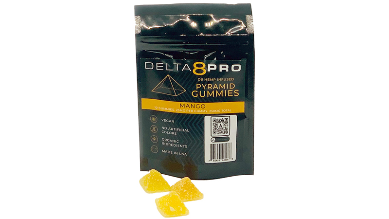 image of Delta8Pro gummies on a white background