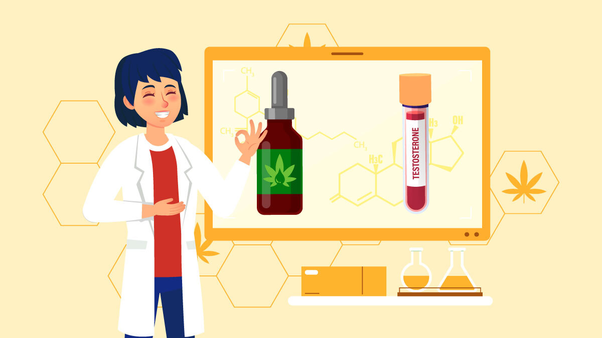 Illustration of CBD and Testosterone